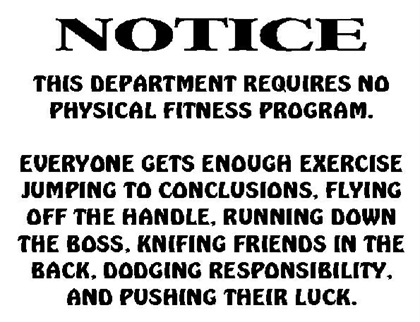 Physical fitness notice