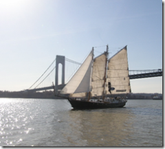 Schooner Anne departing NYC by Will Van Dorp - tugster.wordpress.com