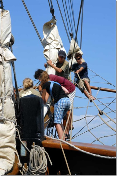 Day 3 - Furling the headsails