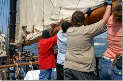 Day 3 - Furling the mainsail