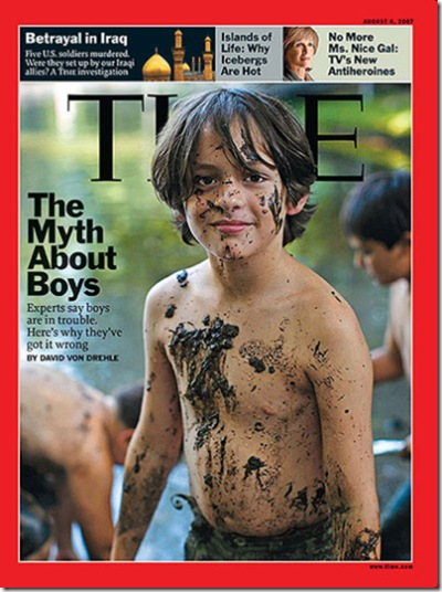 This week's Time magazine cover article, The Myth About Boys by ...