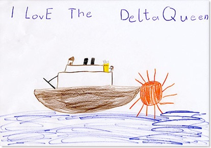 Delta Queen drawing