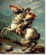 Napoleon Crossing the Alps by Jacques-Louis David via Wikipedia