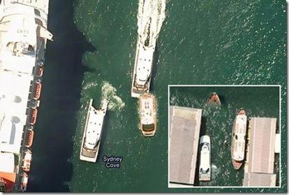 sydney harbor collision gmaps