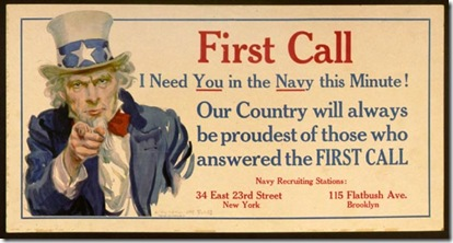 navy first call poster