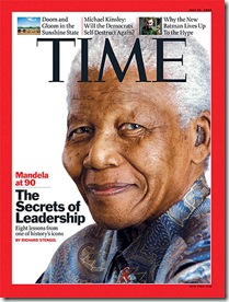 Time cover w Mandela