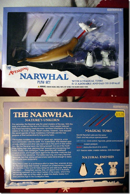 The Avenging Narwhal Play Set