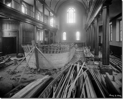 Lagoda under construction - New Bedford Whaling Museum