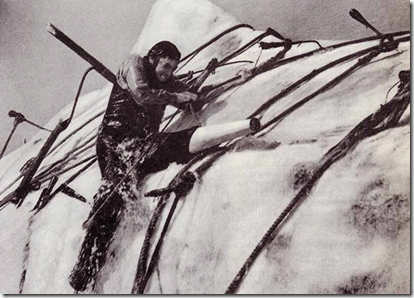 Gregory Peck as Ahab in Moby-Dick
