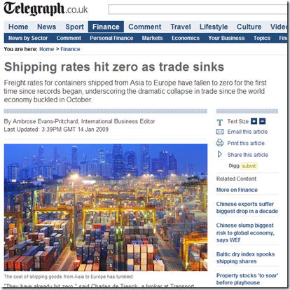 Shipping rates hit zero as trade sinks - Telegraph_1231948209885