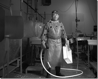 Henrique Chiquito, clean-up man at a New Bedford Fish House by Phil Mello 2008