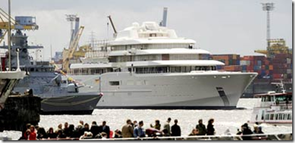Might be one of the last images you see of Roman Abramovich's super yacht