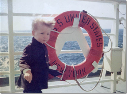 Wall St. Journal article author Jesse Pesta onboard the SS United States at 2 years old. Courtesy of Jesse Pesta via the Wall Street Journal