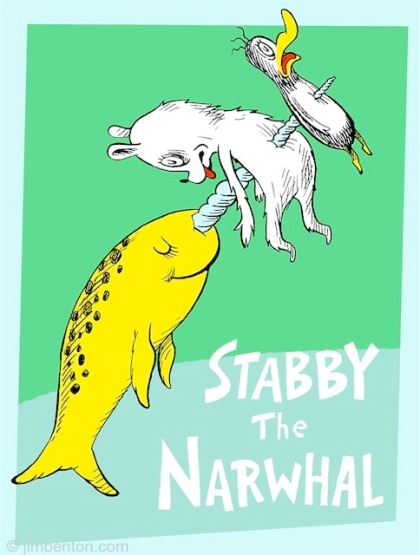 Dr. Seuss Stabby the Narwhal