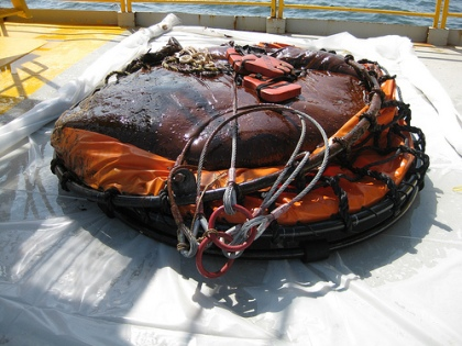 One Ton Tar Ball from BP Oil Spill
