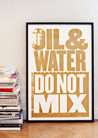 Oil and Water Poster in support of the Coalition to Restore Coastal Louisiana