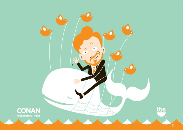 Conan and the Twitter Whale