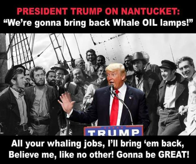 Trump whale oil jobs